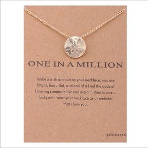 Jewelry - One in a million Sandollar necklace